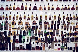 Various alcohol bottles