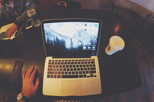 Working from cafe