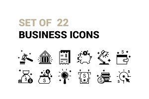 Set  Of 22 Business Icons