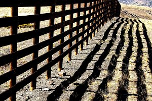 high mountain fence