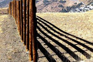 high mountain fence