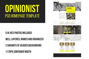 Opinionist PSD homepage template