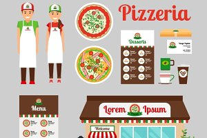 Pizza Cafe icons