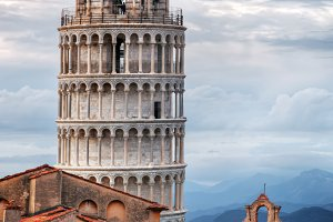 The Leaning Tower panorama.