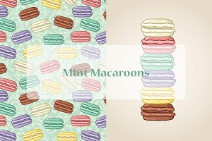 Vector mint macaroons