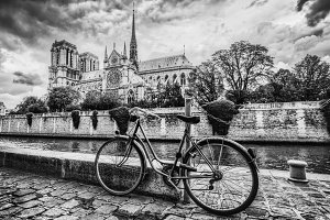 Paris in black and white. France.
