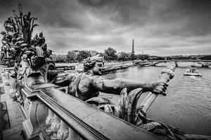 Pont Alexandre III, Paris, France.