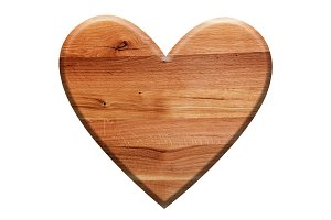 Wooden heart shape.