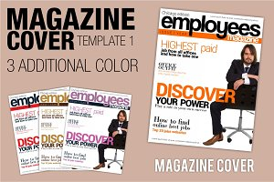 EMPLOYEES magazine cover template 1