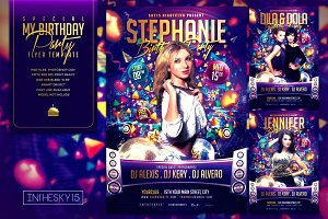 Special My Birthday Flyer Template