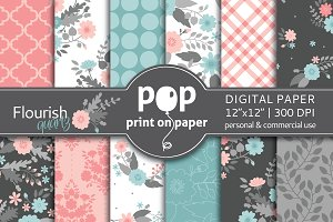 Flourish Quartz Digital Paper