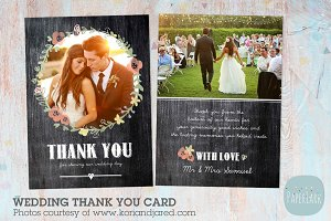 AW006 Wedding Thank You Card