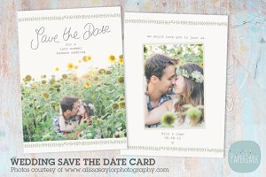 AW019 Save the Date Card Template