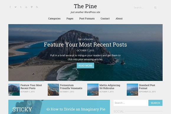 The Pine | WordPress Theme