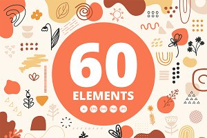 Abstract shapes - vector elements