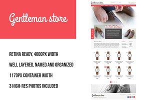Gentleman Store PSD retina-ready