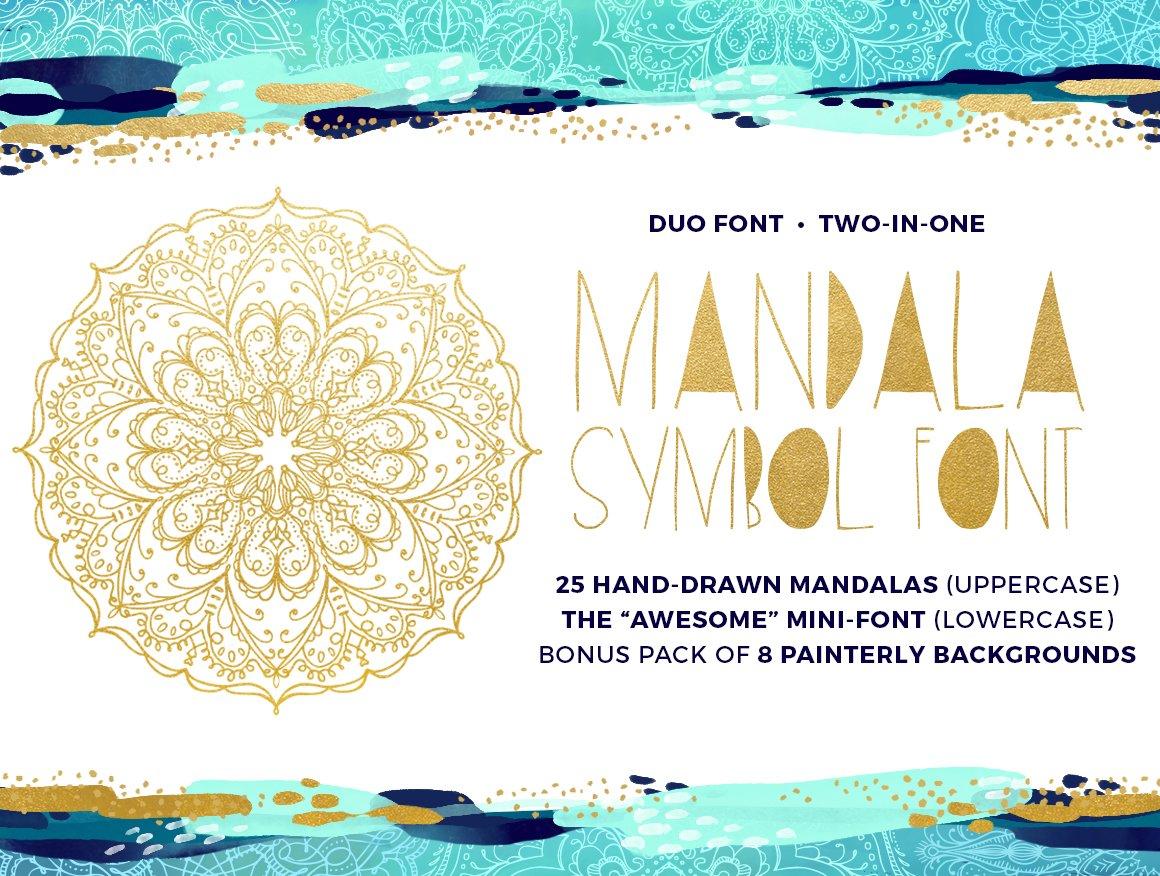 Mandala Symbols Font Symbol Fonts Creative Market