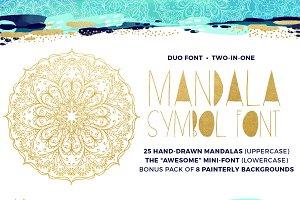 Mandala Symbols Font