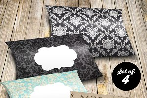 Pillowbox Printable PDF - damask