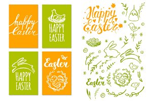 Easter greeting card and patterns