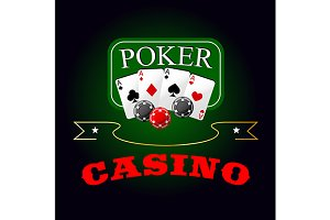 Poker game gabling icon