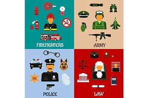 Legal and military professions