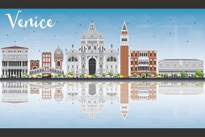 Venice Skyline Silhouette