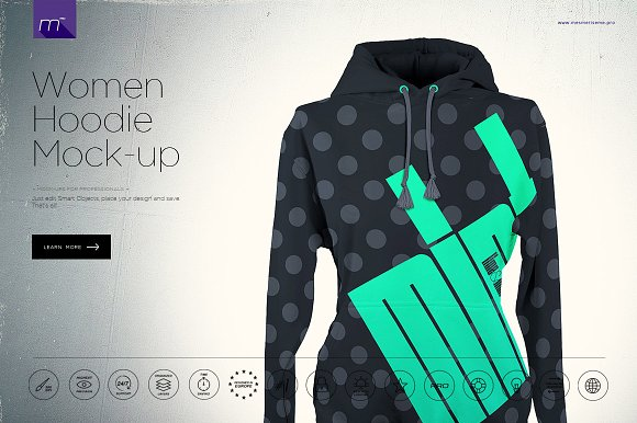 Download Women Hoodie Mock-up
