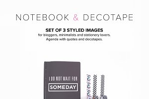 Stock Hero Image:Notebook & decotape
