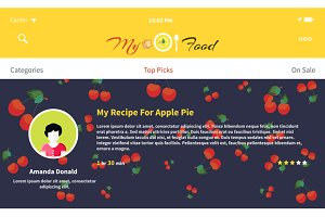 Web Page My Food Recipe Design