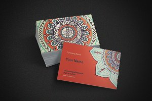 Business card in ethnic style