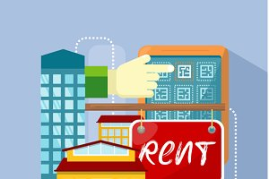 Flat Rent Price Design Concept