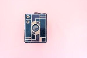 Hero Image vintage, old camera Kodak