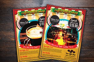 Coffe Shop Advertising Flyer