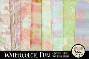 Watercolor Paint Texture Backgrounds