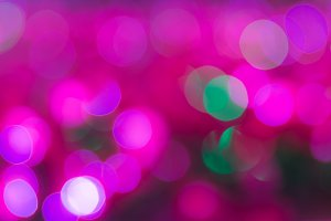 Pink bokeh background.