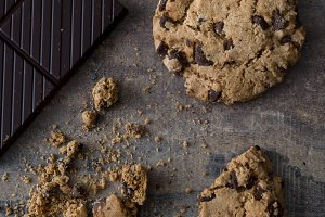 Homemade chocolate cookies