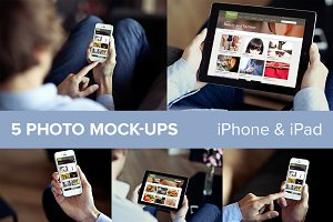 iPhone & iPad PSD mockups