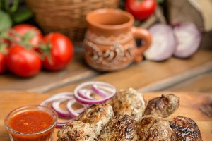 Rustic Oven baked beef cutlets