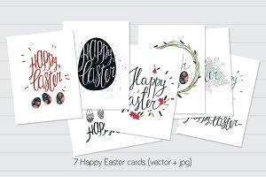 Happy Easter cards (7 eps10 +7 jpg)