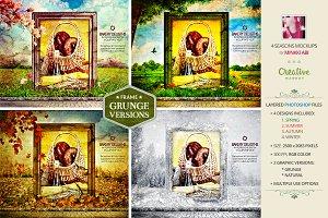 4 Seasons Grunge Mockups