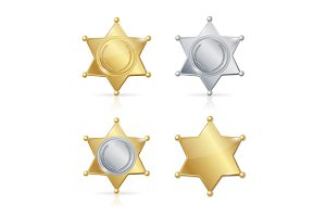 Shefiff Badge Star Set