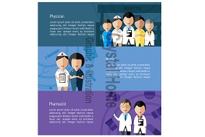 Medical profession staff banner 2