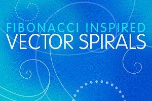 9 Fibonacci Inspired Vector Spirals