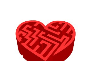 """Maze of love"" red labyrinth"