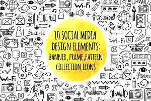 10 social media element desing