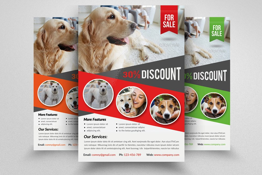 Pet Store Flyer Template Photos Graphics Fonts Themes Templates