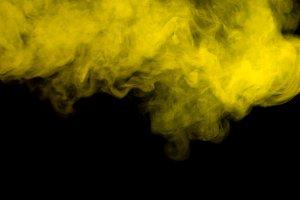 Abstract yellow smoke hookah.