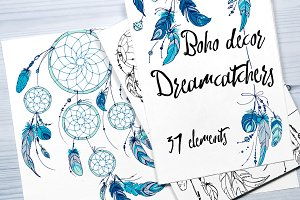 Boho decor. Dreamcatchers