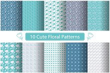 Set of Cute Floral  Patterns